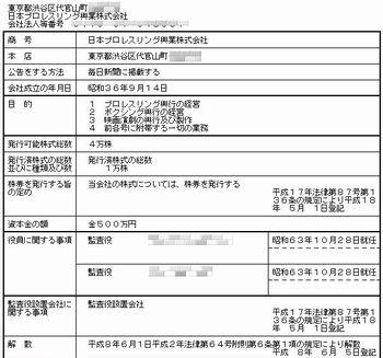 日本プロ・レスリング興行株式会社